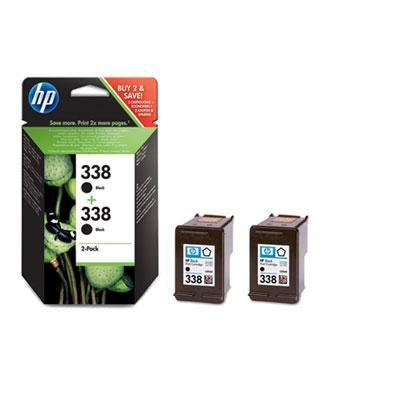 HP 338 Black Ink Cart 2-pack, 2 x 11 ml, CB331EE