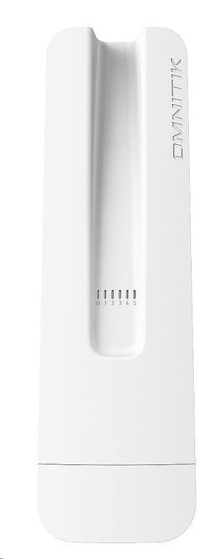 MikroTik RouterBOARD OmniTik 5 ac, 720MHz CPU, 128MB RAM, 5x GLAN, integ.5GHz Wi-Fi, 2x7,5 dBi, 802.11a/n/ac, vč. L4