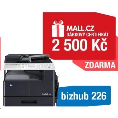 Minolta kopírka bizhub 226 SET1 (bh226 + DF-625 + AD-509 + MK-749 + NC-504) + Poukázka MALL 2500