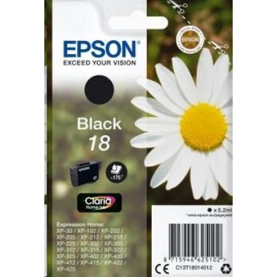 "EPSON ink čer Singlepack ""Sedmikráska"" Black 18 Claria Home Ink"
