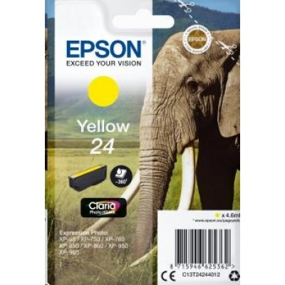 "EPSON ink bar Singlepack ""Slon"" Yellow 24 Claria Photo HD Ink"