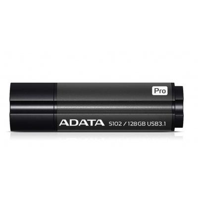 ADATA Flash Disk 128GB USB 3.1 Superior S102 Pro, hliníkový, šedý (R: 100MB / W: 50MB)