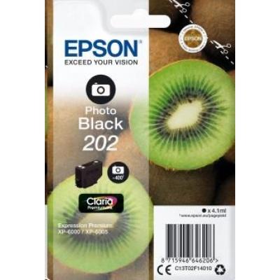"EPSON ink čer Singlepack ""Kiwi"" Photo Black 202 Claria Premium Ink 4,1 ml"