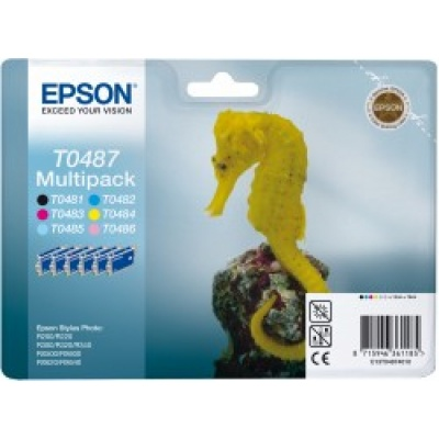 EPSON ink čer+bar Stylus Photo R200/R300/R320/R340/RX500/RX600/RX620/RX640 - photo multipack
