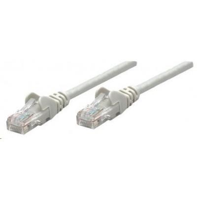 Intellinet patch kabel, Cat6 Certified, CU, UTP, PVC, RJ45, 0.5 m, šedý