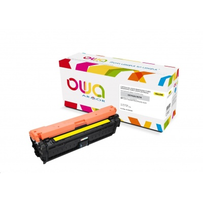 OWA Armor toner pro HP Color Laserjet CP5220, 5225, 7300 Stran, CE742A, žlutá/yellow
