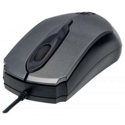 MANHATTAN Myš Edge, USB optická, 1000 dpi, šedá