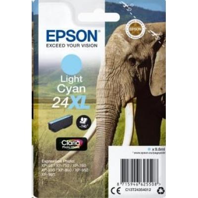 "EPSON ink bar Singlepack ""Slon"" Light Cyan 24XL Claria Photo HD Ink"