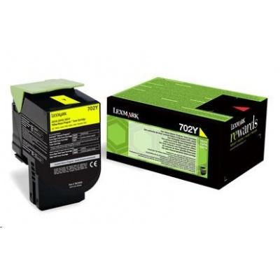 LEXMARK Yellow toner 702Y pro CS310/410/510 z programu Lexmark Return (1 000 stran)