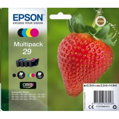 """EPSON Multipack 4-colours """"Jahoda"""" 29 Claria Home Ink"""