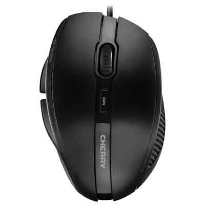 CHERRY myš MC 3000, USB, drátová, ergonomická, černá