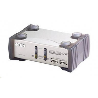 ATEN přepínač KVMP  2-port VGA USB2.0 PS2, audio, 1,2m kabely